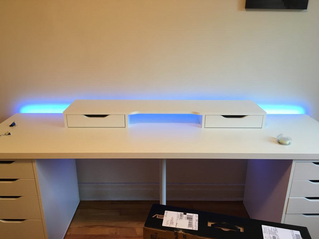Backlit desk