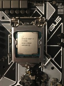 CPU locked into place with the frame.