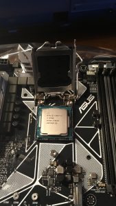 CPU in its seat.