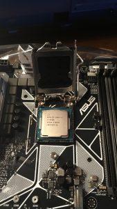 CPU in its seat.