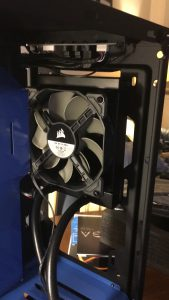 Fan installed in the front of the case.